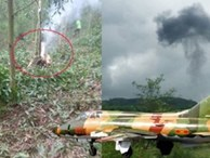 Ảnh: Hiện trường máy bay SU-22 rơi ở Nghệ An