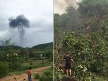 Máy bay quân sự rơi ở Nghệ An