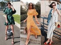 Suốt mấy tháng hè, đi đến đâu cũng bắt gặp các cô nàng làm điệu với 4 kiểu váy liền này