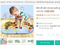Shopee bán đồ chơi trẻ em có bản đồ Trung Quốc chứa 'đường lưỡi bò'