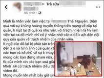 Một tài khoản FB lên tiếng xin lỗi vụ clip cặp đôi thân mật thái quá trong quán trà sữa: 'Mình chỉ có ý nhắc nhở các em'