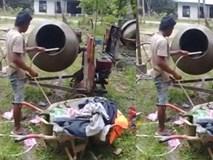 Công dụng mới của chiếc máy trộn bê tông