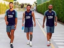 Vidal làm thân với Messi trong buổi tập đầu tiên