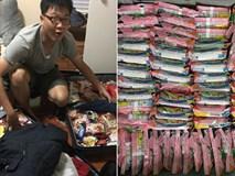 Du học sinh Việt lại 'rần rần' khoe vali đầy ắp đồ tiếp tế nhưng chỉ duy nhất một món là... mỳ tôm!