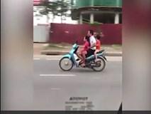 Phẫn nộ người đàn ông để bé gái lái xe phi như bay trên đường
