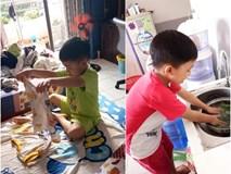 Không quát mắng hay ra lệnh, chỉ dùng chiêu thủ thỉ, mẹ 8X dạy con 6 tuổi làm việc nhà nhoay nhoáy