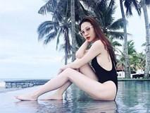 Mặc bikini khoét cao, Đàm Thu Trang - bạn gái Cường Đô la lại