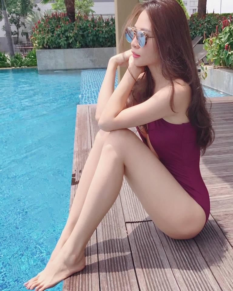Mặc bikini khoét cao, Đàm Thu Trang - bạn gái Cường Đô la lại đốn tim fan-5