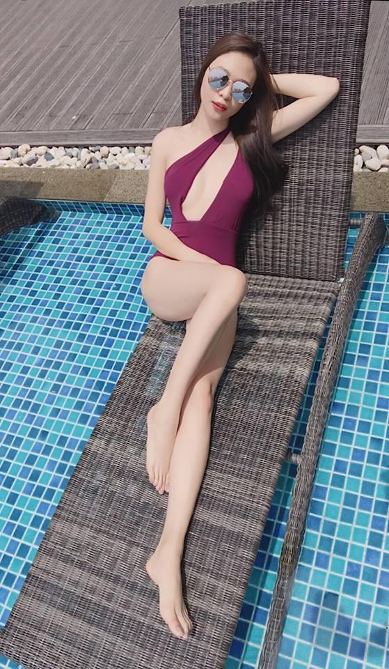 Mặc bikini khoét cao, Đàm Thu Trang - bạn gái Cường Đô la lại đốn tim fan-6