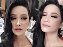 Để tóc dài lại còn làm xoăn, nếu không nói thì chẳng ai nhận ra đây là Hoa hậu H'Hen Niê