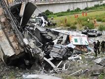 Toàn cảnh sập cầu cao tốc kinh hoàng ở Italia khiến ít nhất 35 người chết