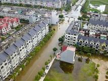 Hỏa tốc ứng phó ngập lụt ở làng biệt thự triệu đô Hà Nội
