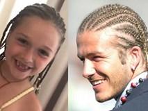 Trùng hợp thú vị: Con gái David Beckham để kiểu tóc y hệt bố 15 năm trước