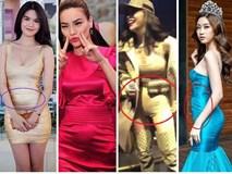 Thân hình 'vệ nữ' như Hà Hồ, Ngọc Trinh lại thường xuyên bị váy áo tố giác vòng 2 như có bầu