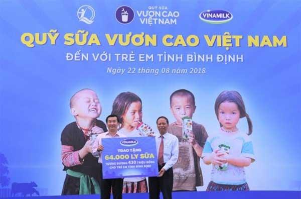 Trao 64.000 ly sữa cho 700 học sinh nghèo Bình Định-4