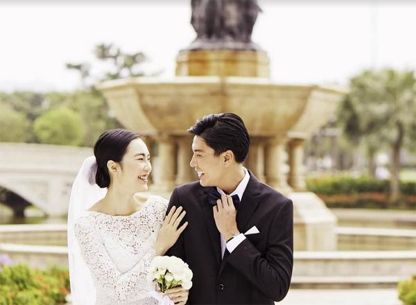 Quang Đại và Helly Tống bất ngờ 'lộ' ảnh cưới-1