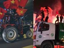 CĐV Việt Nam siêu ngầu, mang cả xe lu, xe kéo 'đi bão' sau chiến thắng lịch sử