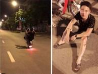 Clip: Thanh niên chở bạn gái bốc đầu mừng đội nhà chiến thắng rồi ngã sấp mặt giữa đường