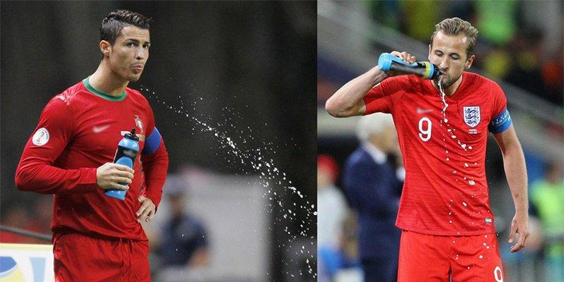 Tại sao cầu thủ liên tục súc miệng và nhổ nước ra sân giữa trận đấu-1