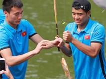 Olympic Việt Nam câu cá thư giãn hướng tới trận gặp UAE tranh Huy chương đồng ASIAD 18