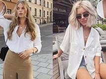 Sơ mi trắng: Kiểu áo cũ nhưng cách mặc mới vẫn