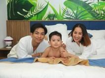 Gia đình Khánh Thi - Phan Hiển đi nghỉ lễ 2/9 sớm ở Đà Nẵng