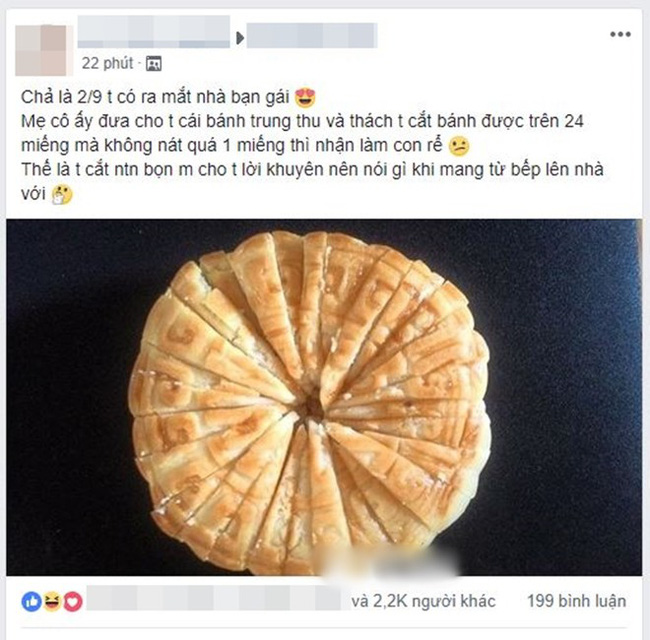 Cười ra nước mắt với chuyện kén rể mùa Trung thu: Cắt được 1 chiếc bánh nướng thành 24 miếng nguyên vẹn thì cho cưới-1