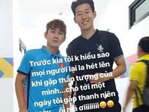 Hai tuần sau ASIAD 2018, Minh Vương khoe ảnh chụp cùng thần tượng Son Heung-min