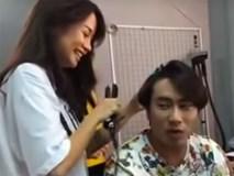 Hé lộ đoạn clip An Nguy vô tư trêu đùa, làm tóc cho Kiều Minh Tuấn