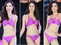 Cận cảnh hình thể nóng bỏng của Top 25 thí sinh Hoa hậu Việt Nam 2018 trong màn trình diễn bikini