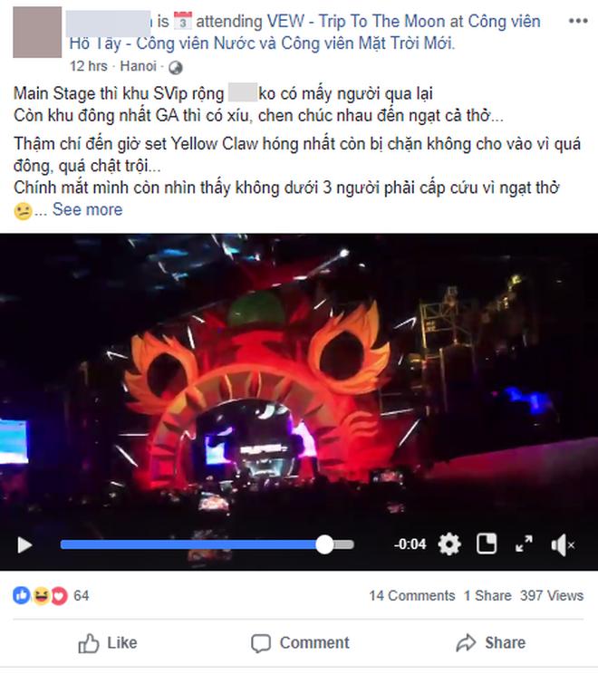 Người chứng kiến nạn nhân nằm bất động trên cáng tại lễ hội âm nhạc: Không gian ngột ngạt, không đủ sức chứa số lượng lớn người tham gia-2