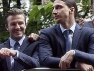 Beckham chúc mừng Ibrahimovic nhưng không quên 'đá xoáy' đúng kiểu bạn thân