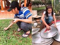Sao Việt tất bật chuẩn bị cho ngày giỗ Tổ: Hoài Linh tự tay nhổ cỏ, Nam Thư miệt mài lau dọn