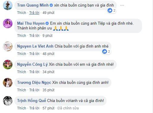 Việt Anh, Công Lý và loạt sao Việt gửi lời chia buồn khi bố của Minh Tiệp qua đời-1