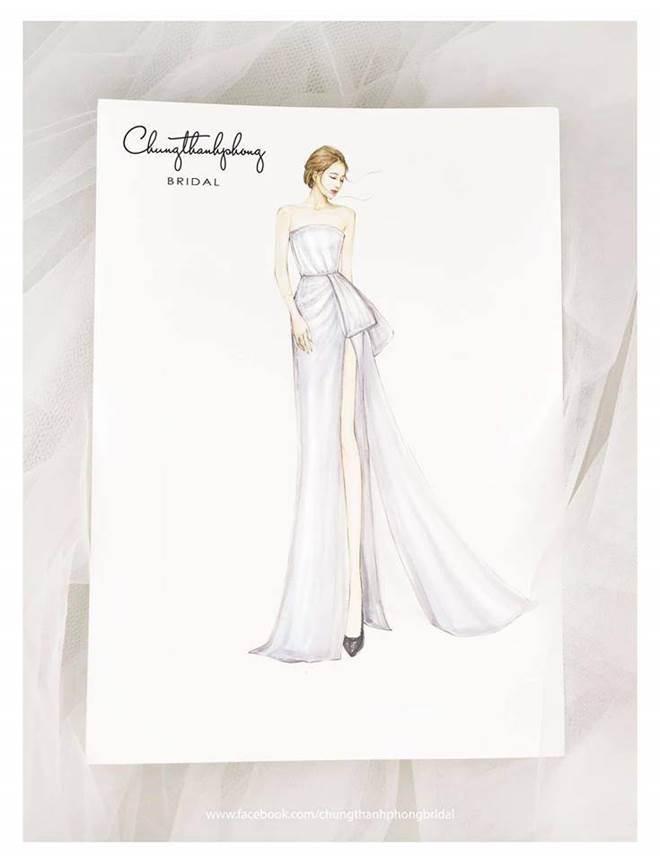 HOT: Nhã Phương sẽ mặc váy cưới xẻ đùi, che bụng khéo léo trong lễ cưới với Trường Giang-2