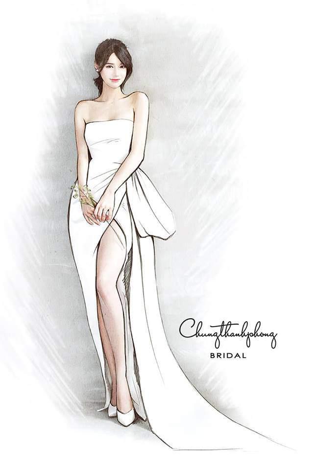 HOT: Nhã Phương sẽ mặc váy cưới xẻ đùi, che bụng khéo léo trong lễ cưới với Trường Giang-3
