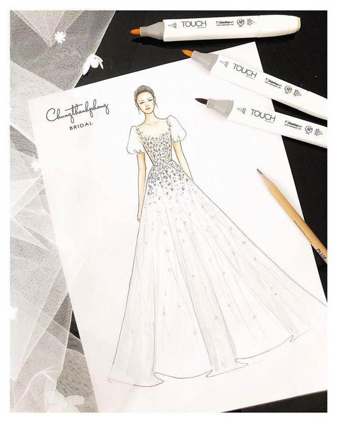 HOT: Nhã Phương sẽ mặc váy cưới xẻ đùi, che bụng khéo léo trong lễ cưới với Trường Giang-5