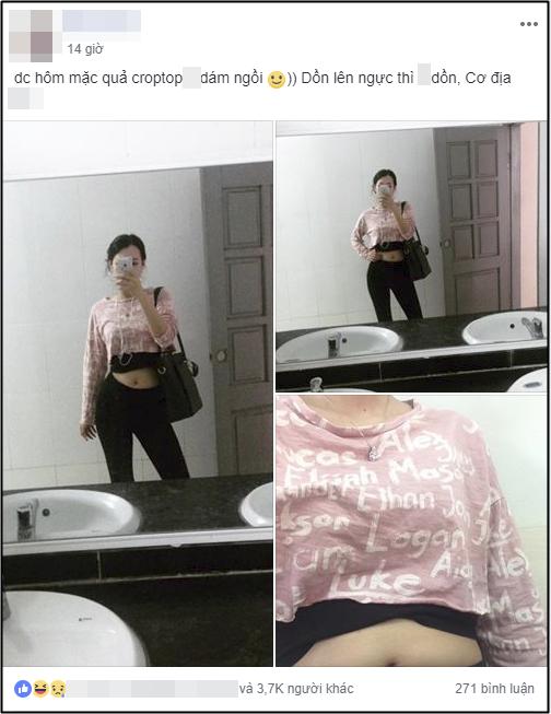 Cùng là cô gái ấy trong bộ quần áo ấy, dân mạng cười bò khi kéo tới bức ảnh cuối cùng: Đúng là cái bụng phản chủ!-1