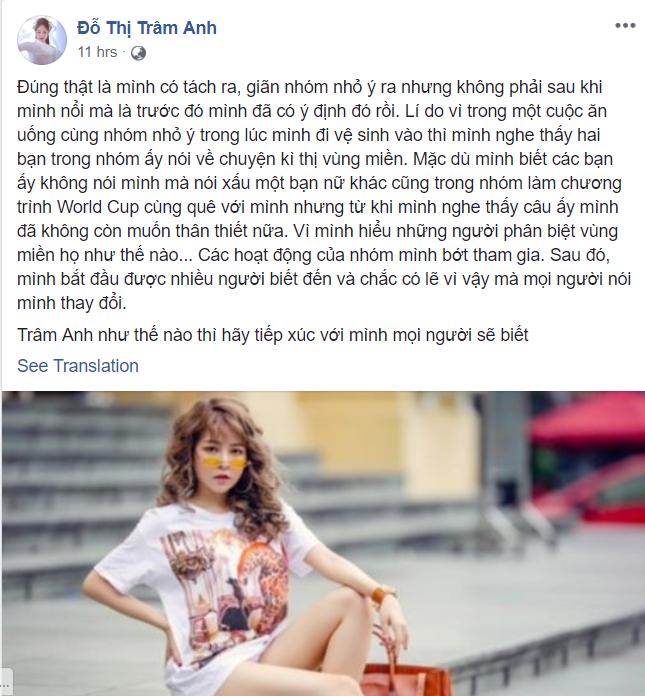 Hot girl Trâm Anh bất ngờ chia sẻ lý do thực sự khiến cô bị hội chị em Nóng cùng World Cup tẩy chay-4