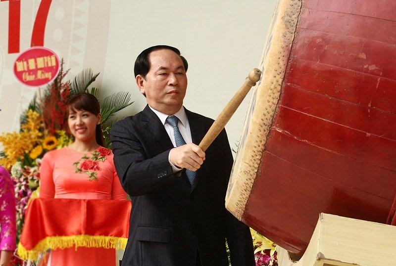 3 lần đánh trống trường của Chủ tịch nước Trần Đại Quang-1