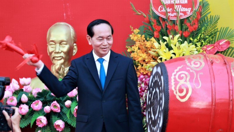 3 lần đánh trống trường của Chủ tịch nước Trần Đại Quang-3