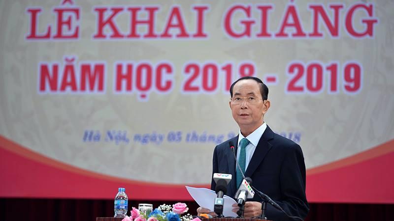 3 lần đánh trống trường của Chủ tịch nước Trần Đại Quang-8