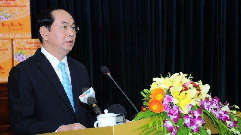 3 lần đánh trống trường của Chủ tịch nước Trần Đại Quang-9