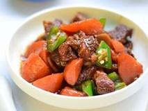 Bữa cơm ngày thu thêm ngon với bò rim mặn đậm đà mềm thơm