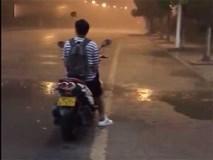 Cơn mưa chỗ ướt, chỗ khô rõ biên giới hiếm gặp
