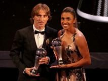 Vượt qua C.Ronaldo, Luka Modric giành giải Cầu thủ xuất sắc nhất FIFA