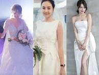Khi Nhã Phương, Tú Anh, Mai Ngọc, Hari Won cùng so kè váy cưới lộng lẫy