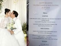 Menu tiệc cưới sang chảnh của Trường Giang - Nhã Phương có gì?