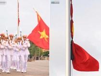 Treo cờ rủ Quốc tang Chủ tịch nước Trần Đại Quang