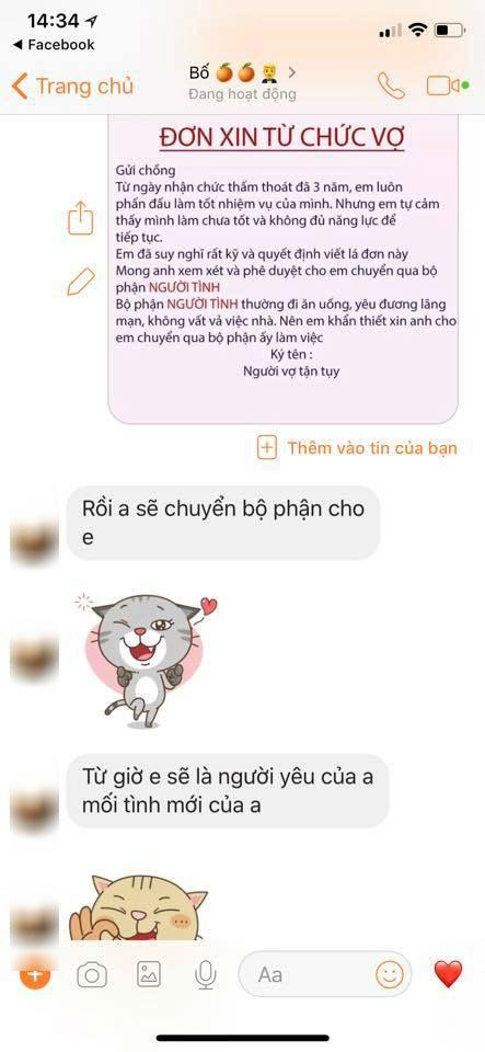 Chị em rộ trào lưu nhắn tin từ chức vợ để chuyển sang bộ phận người tình và đây là phản ứng của các anh chồng-8